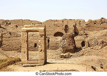 エジプト, 噴水, dendera, 寺院
