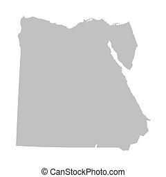 エジプト, 地図, 灰色