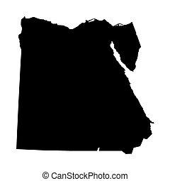 エジプト, 地図, 黒
