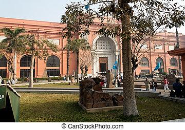 エジプト, 屋外, cairo., museum., エジプト人