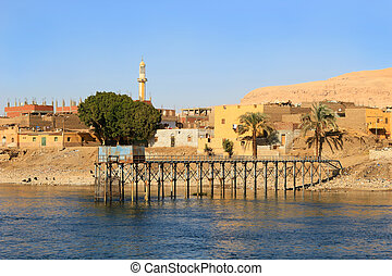 エジプト, 川, ナイル, 村