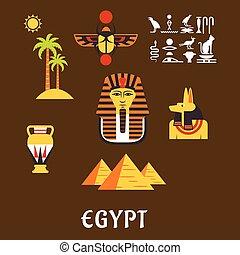 エジプト, 文化, 旅行, 古代, アイコン