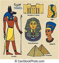 エジプト, 旅行, 概念
