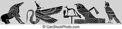 エジプト, 様々, 鬼, 古代