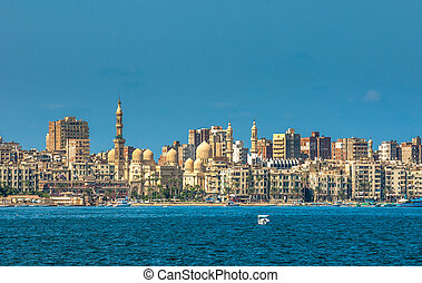 エジプト, 港, アレキサンドリア, 光景