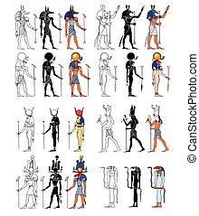 エジプト, 神, 古代, goddness