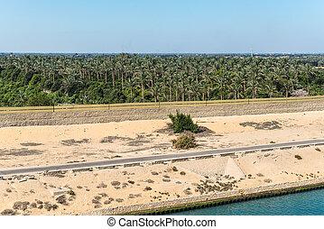 エジプト, 運河, スエズ, 海岸線