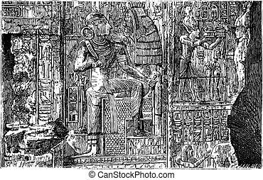 エジプト, bas - レリーフ, abydos