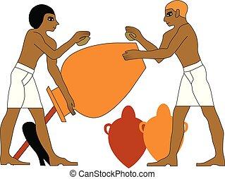 エジプト, ceramists, 古代
