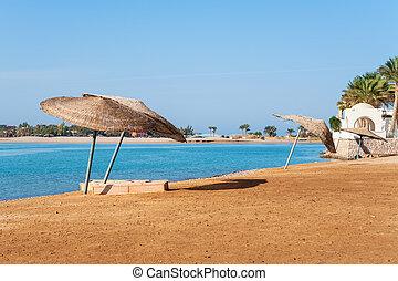 エジプト, el, 浜, gouna.