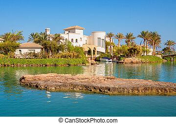 エジプト, el, resort., gouna