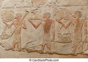 エジプト, necropolis, saqqara, 現場, カイロ