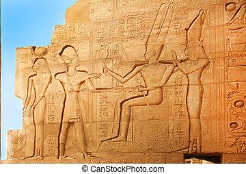 エジプト, ramesseum, 救助, テーベ