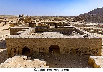エジプト, saqqara, ステップ, necropolis, pyriamids