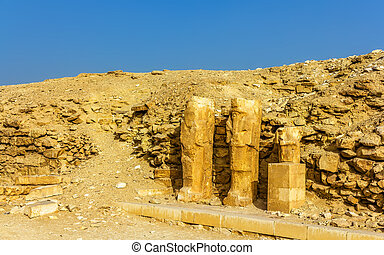 エジプト, -, saqqara, 古代, 彫像