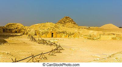 エジプト, -, saqqara, 墓, ピラミッド