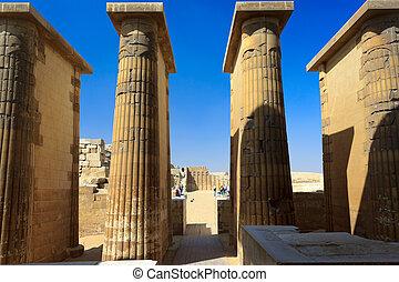エジプト, saqqara, 寺院, コラム