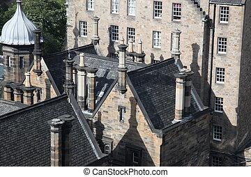 エジンバラ, イギリス, 屋根, スコットランド