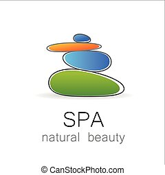 エステ, 自然の美しさ, テンプレート, ロゴ