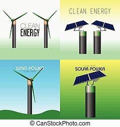 エネルギー, きれいにしなさい, イラスト