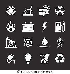 エネルギー, アイコン, セット