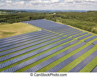 エネルギー, パネル, 光起電, 太陽