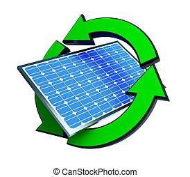 エネルギー, パネル, 回復可能, 太陽