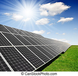 エネルギー, パネル, 太陽