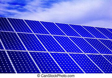 エネルギー, 光起電, -, 太陽, 回復可能, パネル