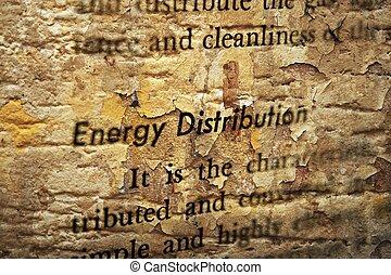 エネルギー, 分配