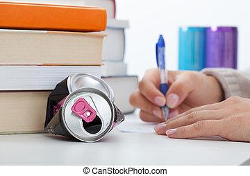 エネルギー, 勉強, 飲み物