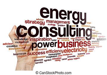 エネルギー, 単語, 相談, 雲