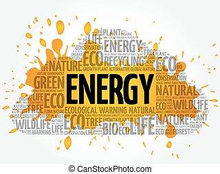 エネルギー, 単語, 雲