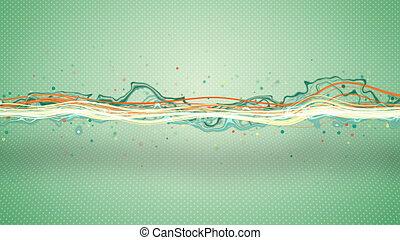 エネルギー, 抽象的, イラスト, 波