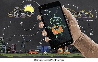 エネルギー, 未来, 回復可能, automates, 技術