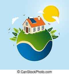 エネルギー, 概念, 緑, 太陽
