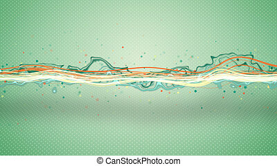 エネルギー, 波, 抽象的, イラスト