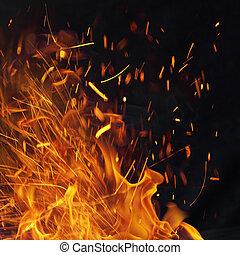 エネルギー, 火花, fiery, 背景