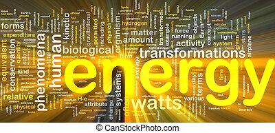 エネルギー, 物理学, 背景, 概念, 白熱