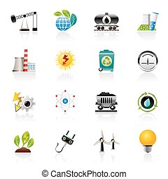 エネルギー, 生産, 力, アイコン