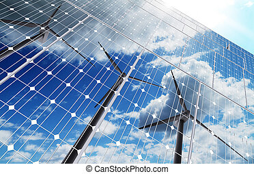 エネルギー, 緑の背景