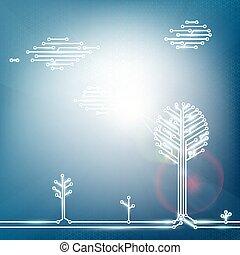 エネルギー, 自然, 生態学的, 太陽, panels.