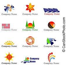エネルギー, 要素, デザイン, 太陽