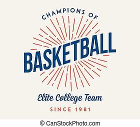 エリート, バスケットボール, 大学, チーム