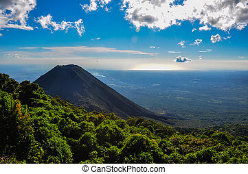 エルサルバドル, 国立公園, verde, 火山, cerro, izalco