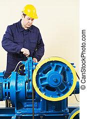 エレベーター, 機械工, 調律, ブレーキ, メカニズム