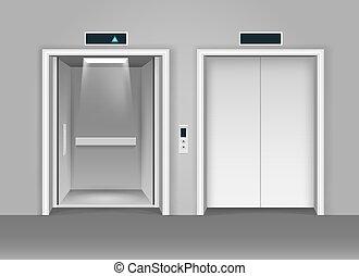 エレベーター, 鋼鉄, 現実的