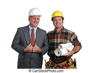 エンジニア, &, 建築業者