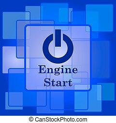 エンジン, アイコン, 始めなさい