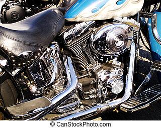 エンジン, オートバイ, 細部, 習慣